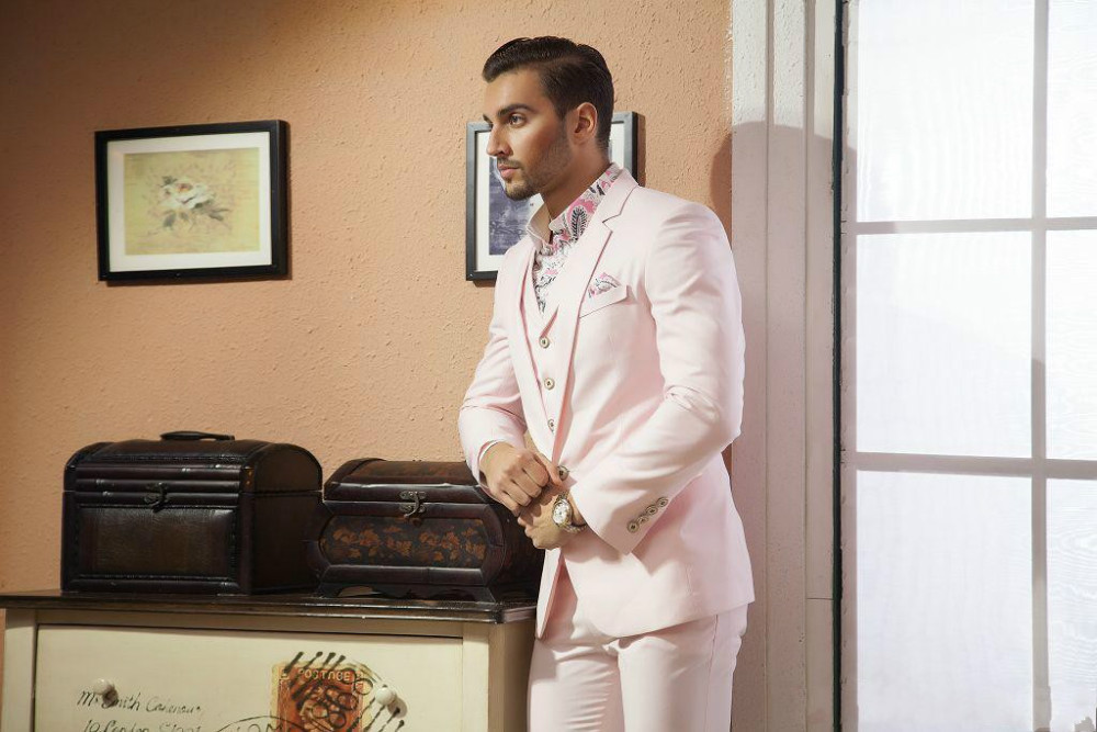 Classic Design Light Pink Groom Tuxedos Groomsman Men's Wedding ...