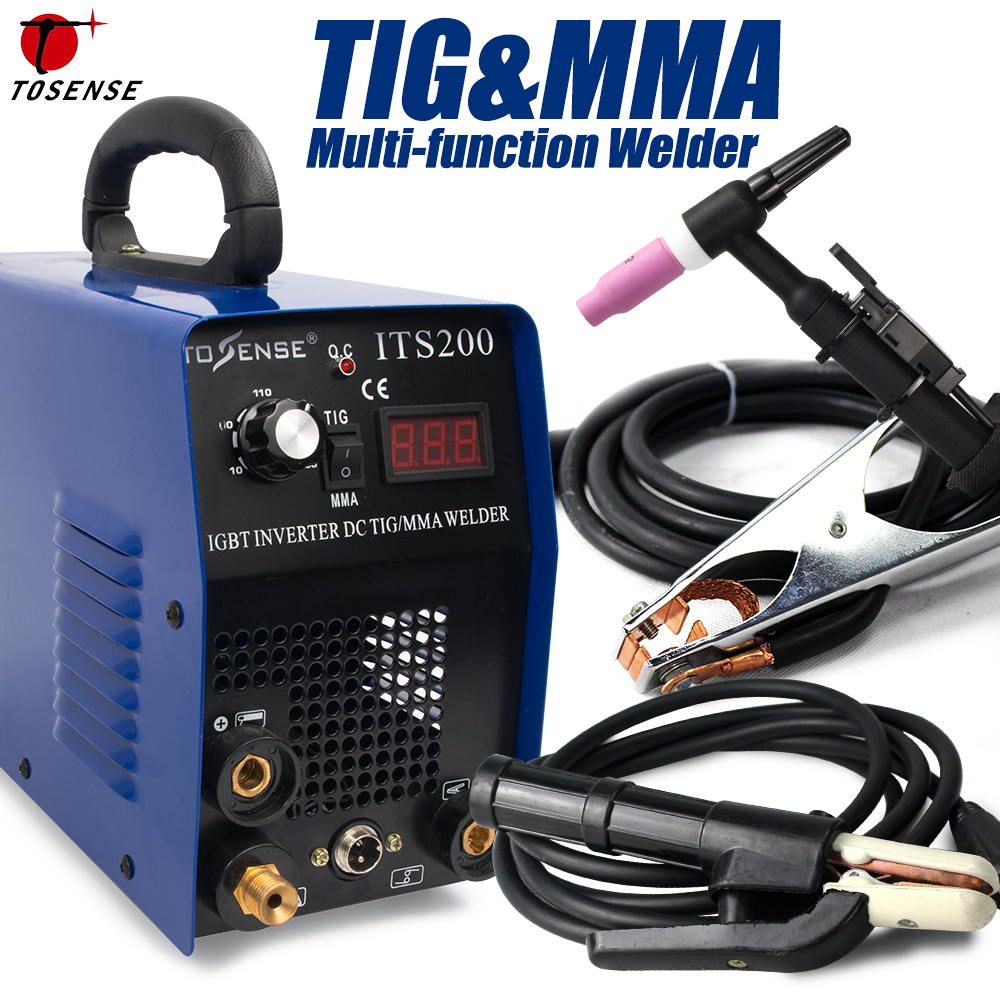 TIG/ MMA/ Arc/ Stick TIG Welding Machine-Tosense ITS200 2in1 Stainless/ Carbon Steel Welding Equipment TIG ARC Welder