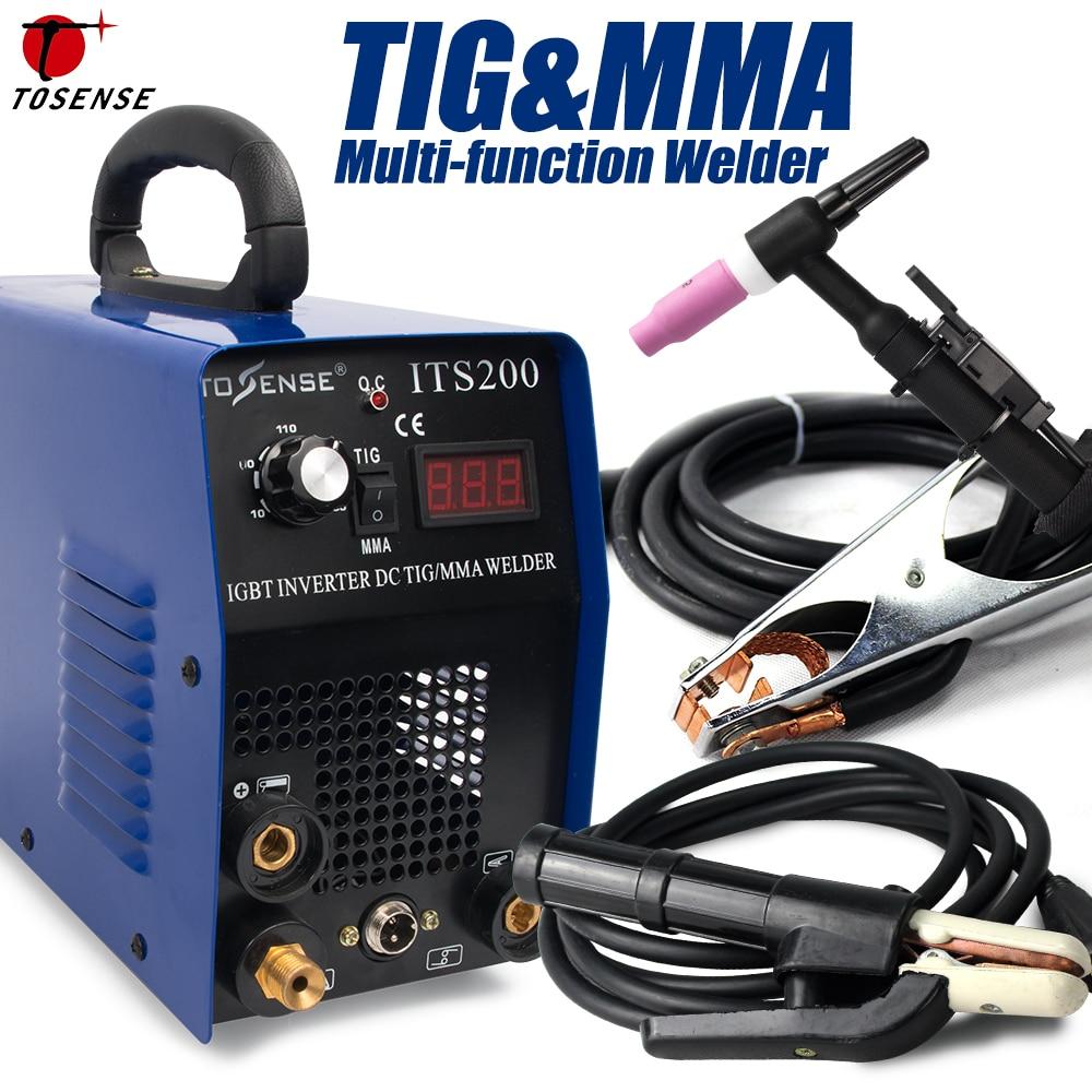 TIG/ MMA/ Arc/ Stick TIG Welding Machine-Tosense ITS200 2in1 Stainless/ Carbon Steel Welding Equipment TIG ARC Welder