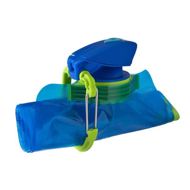 ポータブル折りたたみつ折りドリンク水旅行スポーツやかんカップソフト耐久性バッグ新