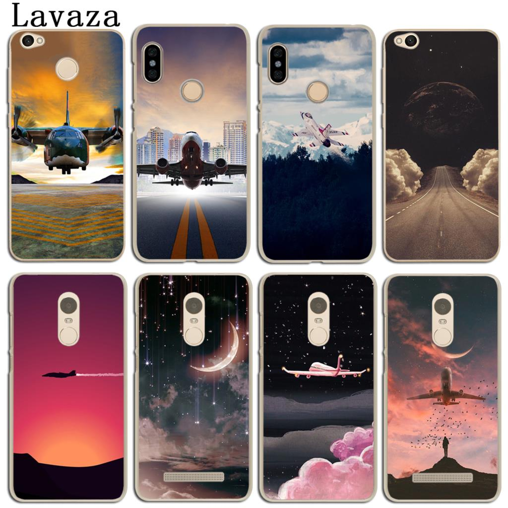 Pink Airport Aircraft Sky Cloud Sunset Case For Xiaomi Mi A2 Lite A1 Note 3 16gb Bamboo Edition 8 Se 6x 5x Mix 2s Redmi 4a S2 4 4x 6 5 Pro 5a Prime In Half Wrapped