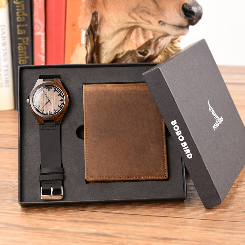 Saatler'ten Kuvars Saatler'de Reloj hombre BOBOBIRD özelleştirilmiş ahşap Saat ve Cüzdan Gravür Mesaj Harika Hediyeler'da  Grup 2
