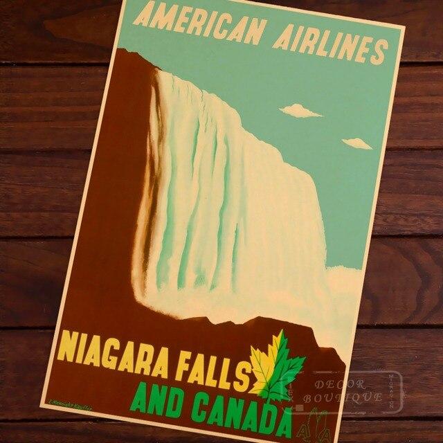 Niagara Falls Canada Vintage Pop Travel Poster Classic Retro Kraft ...