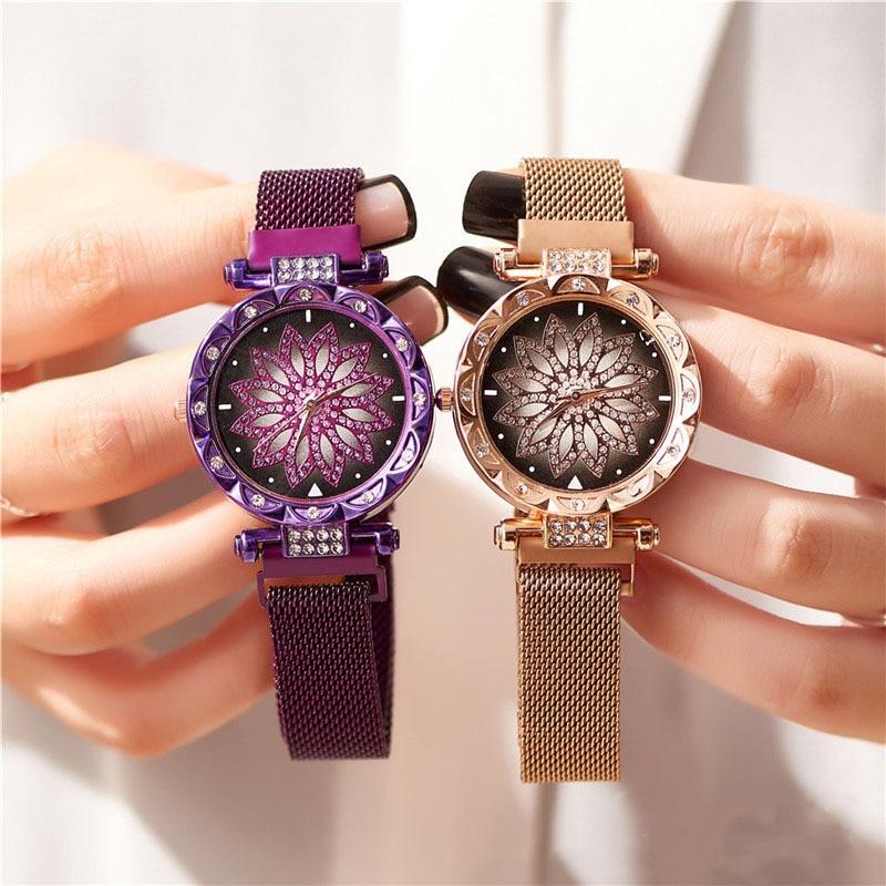 Ladies Magnetic Starry Sky Watch Luxury Women Watches Fashion Diamond Female Quartz Wristwatches Relogio Feminino Zegarek Damski
