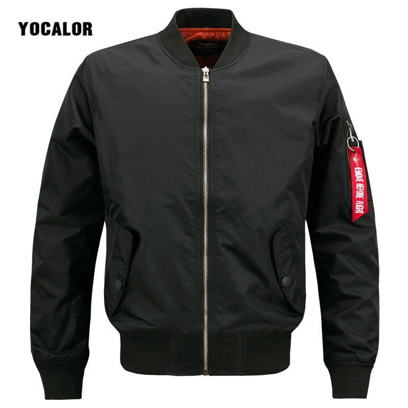 YOCALOR Spring Autumn Men's Bomber Male Jacket Coat Air First Pilot Baseball Military Jackets Men Outerwear Waterproof Army