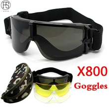 Tactical Goggle Airsoft Glasses Outdoor Sports Military Pain