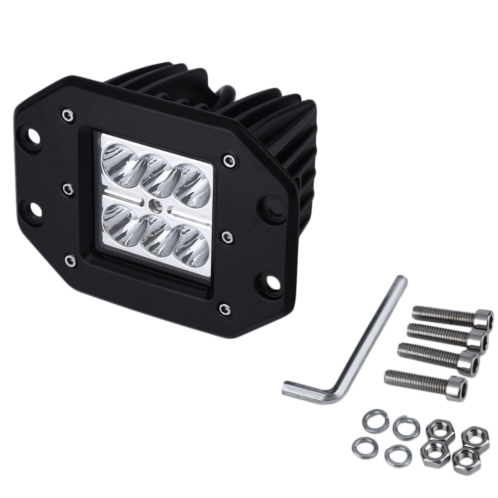 1pc 4Inch 18W 24V LED Work Light Bar for Indicators Motorcycle Driving Offroad Boat Car Tractor Truck 4x4 SUV ATV Flood 2pcs 48w led work light for indicators motorcycle spot flood beam driving offroad boat car tractor truck 4x4 suv atv 12v 24v