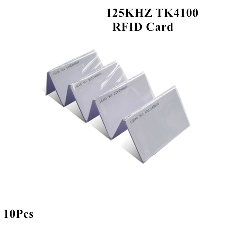 Proximity RFID Card 125KHZ TK4100 EM4100 Read Only Credit Card Size Door Entry RFID Access Control Smart Card Key Tags 10Pcs
