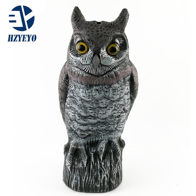 HZYEYO Hunting Small Owl Decoy Outdoor Hunt Goods Decoy Plastic Garden  Decoration Ornaments 1 Pcs 40cm
