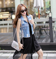Cheap wholesale 2017 Spring summer new style hot selling women popular casual Handmade distrressed Ladies sleeveless denim Vest
