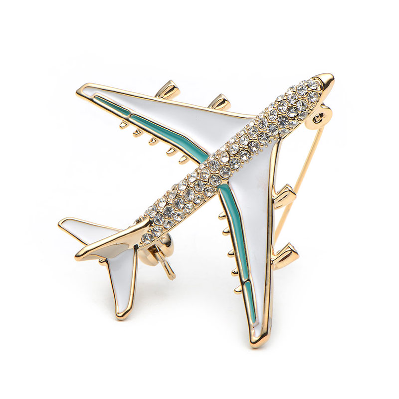 Wuli Baby Alloy Airplane Brooch Pins Rhinestone Red Plane Luxury Brand  Brooches For Women Quality Gift Aircraft Scarf Buckle-in Brooches from  Jewelry ... 0480d39ecd0e