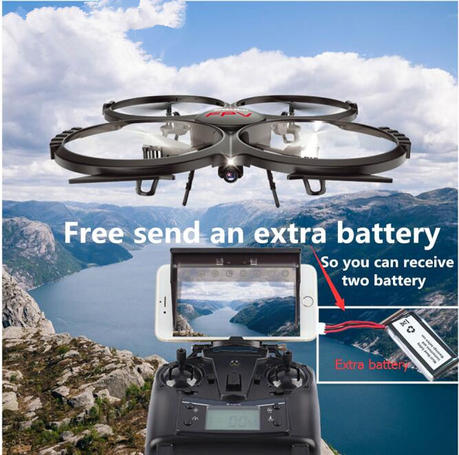 Extra battery New Fixed Dual control WIFI FPV U818A U919A Rc Drone HD camera 6-Axis Gyro RC Helicopter Quadcopter vs X5SW X8HG new arrival x39v 2 4g 4ch remote control toys 6 axis gyro rc quadcopter vs wltoys v262 drone 2 0 u818a