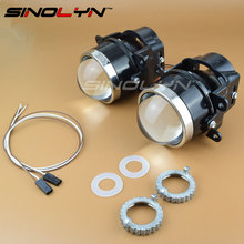 SINOLYN Newest LEADER Bixenon Projector Fog Lamp Lens Driving Light L03 with HID Bulb D2H Waterproof Special Used for Many Cars