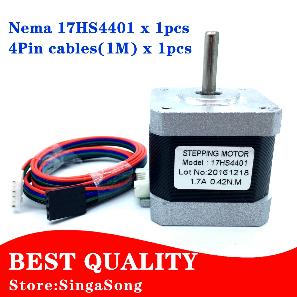 Ce certification 1pcs 4 lead nema17 stepper motor 42 motor nema 17 motor 42bygh 1 7a