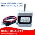 Certificação CE 1 pcs 4-lead Nema17 Stepper Motor 42 Nema 17 do motor do motor 42 42BYGH 1.7A (17HS4401) motor para CNC XYZ