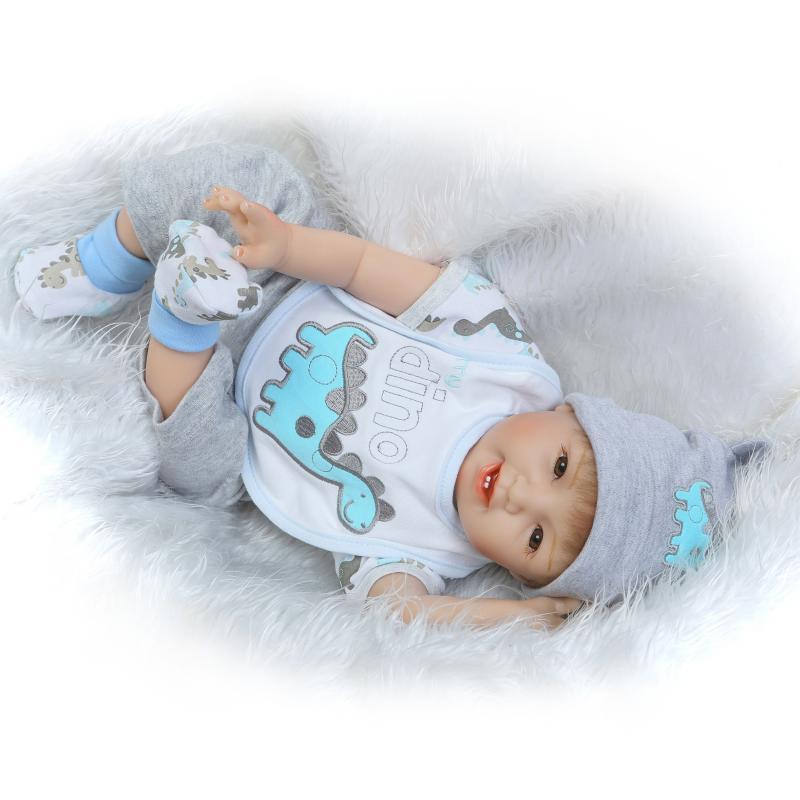 DollMai 55 cm Real Looking Lifelike Baby Dolls Newborn Silicone Reborn Baby Boy Dolls for Sale boneca bebe reborn menino 55 cm