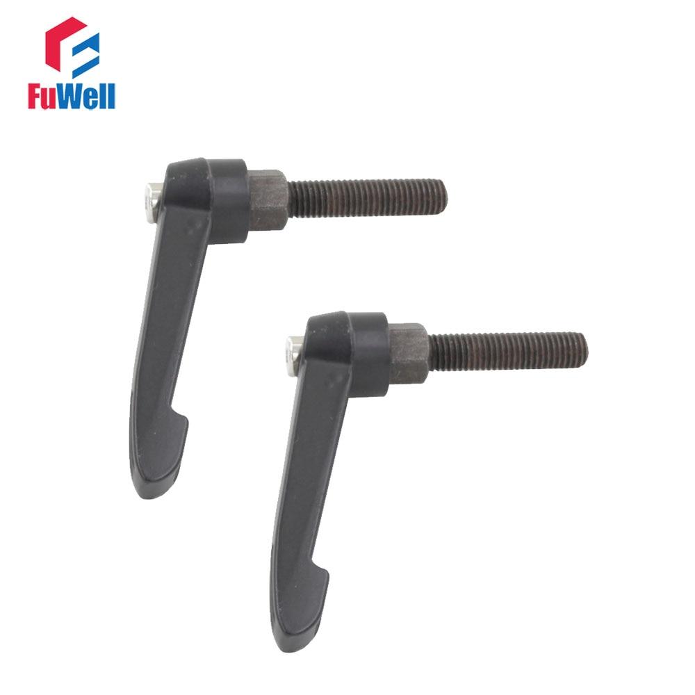цена на 2pcs M12 Male Thread Adjustable Handles Knob 30/35/40/50/60/70/80mm Thread Length 12mm Dia. Adjutable Clamping Handle Lever