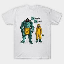2017 Latest Men Brand Clothing Anime Fullmetal Alchemist Print T Shirt Short Sleeve Edward Elric Design T-Shirt Hip Hop Tee Tops