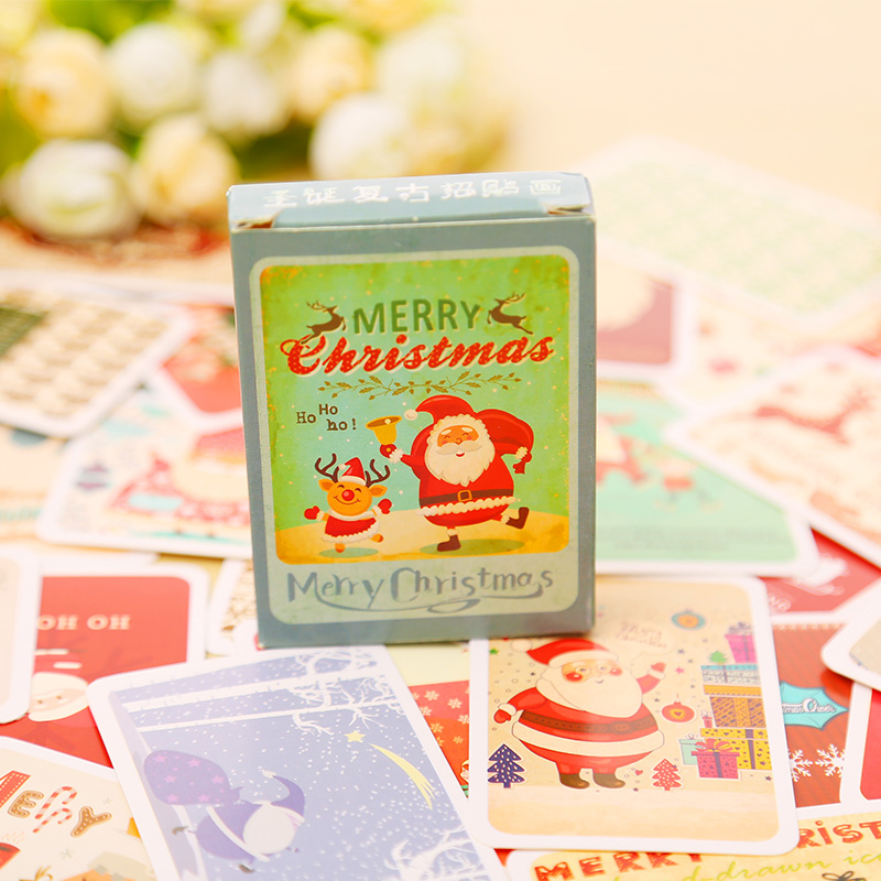 28 pcs/set mini Christmas Poster card greeting card lomo memo card kids gift postcard kawaii stationery 30pcs in one postcard take a walk on the go dubai arab emirates christmas postcards greeting birthday message cards 10 2x14 2cm