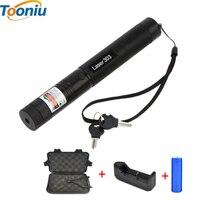 LED Flashlight 5000mw Laser 303 Laser Pointer High Power Green Laser Presenter Star Pattern Filter Safe