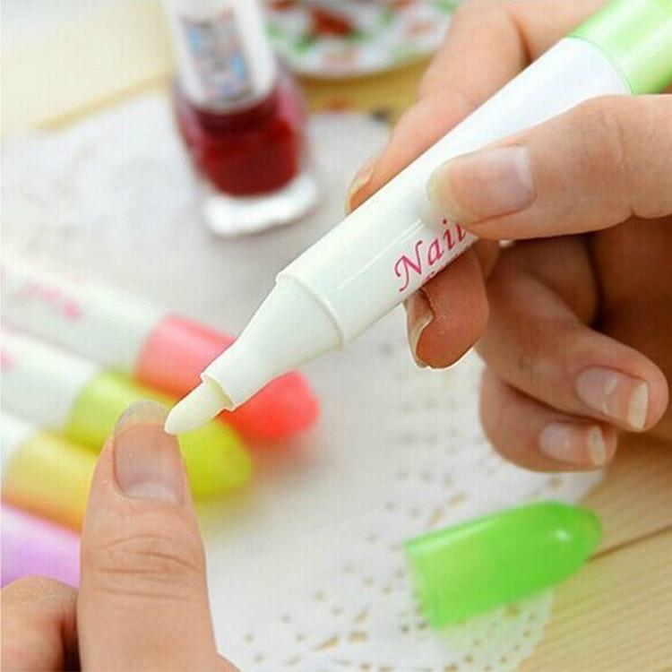 # Qwe 1 Stück Von Einem Satz Aceton Nagellack Entferner Corrector Stift Art Lack Korrektur Stifte Nagel Werkzeuge Stift, Zufällige Farbe