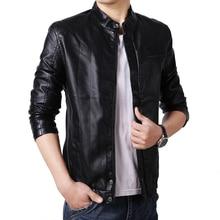 Jaqueta Masculina 3XL PU Leather Jacket New 2016 Autumn and Winter Biker Jacket Men Tide Warm Slim Fit Jacket Men