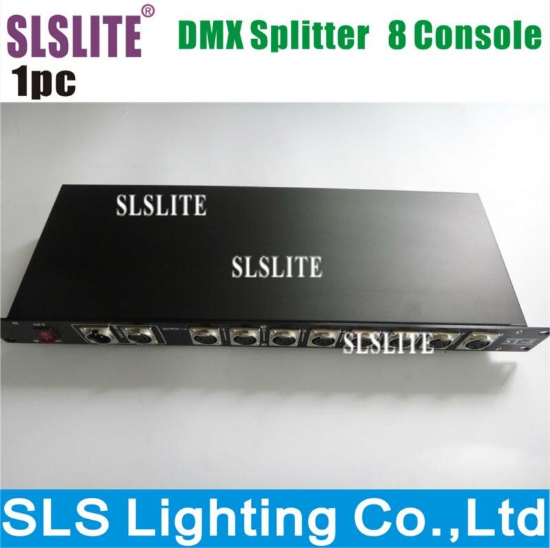 Séparateur de Signal de lumière d'étape légère du séparateur DMX512 de 8CH DMX répartiteur de 8 manières DMX distributeur 8 Routes conducteur de Signal de Dmx distribuent