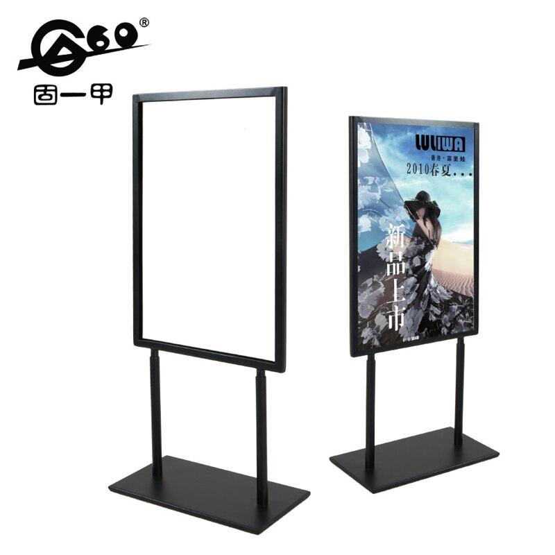 Klassische schwarz metall A4 doppelseitige Werbung Display Stand ...