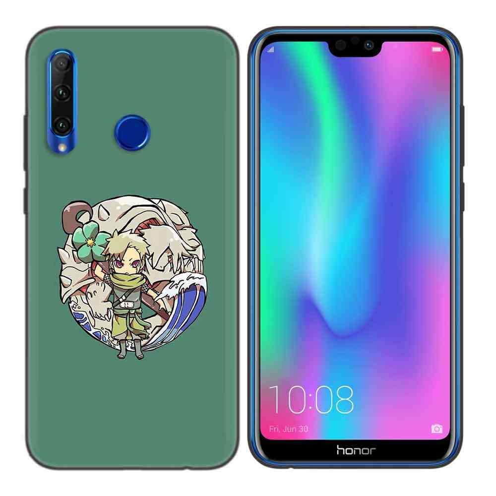黒ソフトシリコンケースカバー Huawei 社の名誉 8C 8X 8A 10 20 Lite プロ Y5 Y6 Y7 Y9 2019 再生 9X 楽しむ V20 キャパ火影ナルト Ka