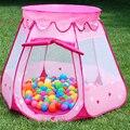 Tenda infantil casa de jogo interior do quarto do bebê da princesa do bebê crianças brinquedos ao ar livre onda piscina bola marinha dobrado