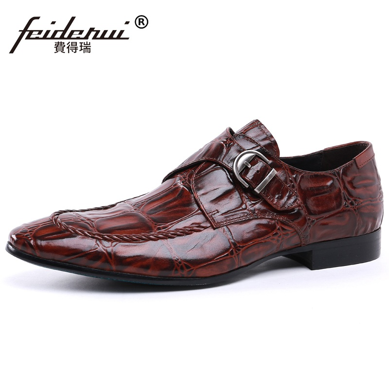New Arrival Italian Pointed Toe Straps Man Formal Dress Monk Shoes Genuine Leather Handmade Mens Wedding Business Flats NH71New Arrival Italian Pointed Toe Straps Man Formal Dress Monk Shoes Genuine Leather Handmade Mens Wedding Business Flats NH71