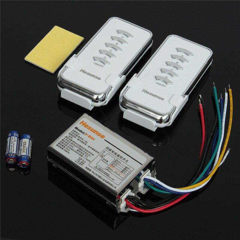 Un Ensemble Y-B24 2N1 220 V 4 Ch RF Numérique Sans Fil Télécommande Lumière Éclairage Commutateur 2 pcs Télécommande + Récepteur Favorable