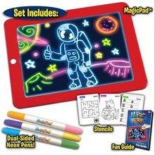 3D Magic Pad Reuse Create Art That Glows Magic Board Children Writing Board Clipboard Gift Response Creative Toy Drop Shipping