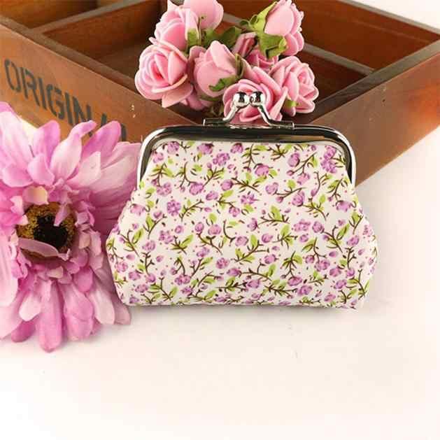 MAISON FABRE Moda Tela Pequena Bolsa Zip Lady Coin Purse Bag Lady Mulheres Retro Vintage Flor Pequena Bolsa Carteira Ferrolho embreagem