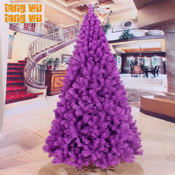 free shipping 240cm encryption purple christmas tree 24 meters of packages trees decorated decorations - Purple Christmas Tree