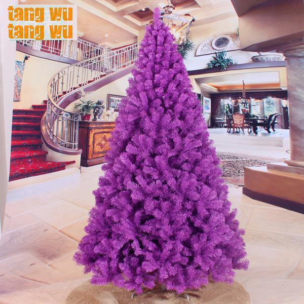 free shipping 240cm encryption purple christmas tree 24 meters of packages trees decorated decorations
