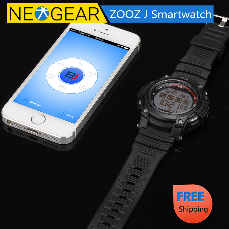 ZOOZ J Bluetooth Smartwatch Free iOS + Android App, SMS +