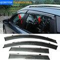 Stylingg Toldos Abrigos 4 pçs/lote Viseiras Da Janela do carro Para Mazda CX-9 2013-2016 Sol Chuva Escudo Adesivos Covers