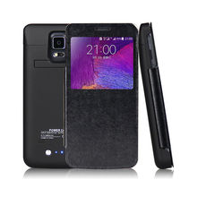 Battery Charger 4800mAh Portable External Backup Power Bank Case For Samsung Galaxy Note 4 Note4 N9100 With Flip Cover Cases