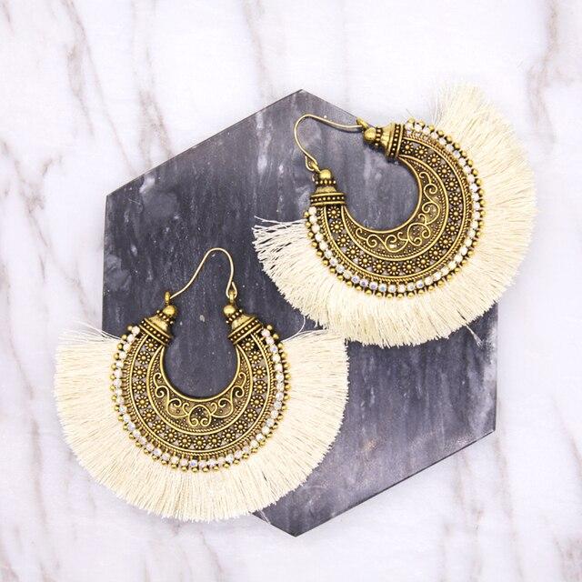 Coco Willow Tel Handmade Ethnic Hoop Earrings Mexican Traditional Feel Like Tribal Boho