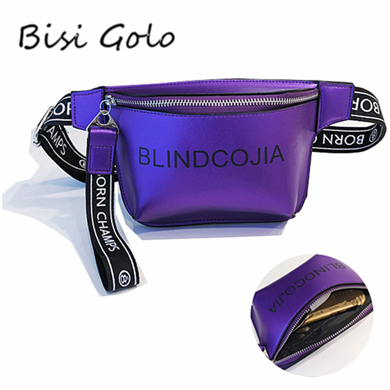 BISI GORO Waist Bag Women Girls Fanny Packs Colorful Unisex Waist Packs Belt Bag Pouch For Zippered Packets 110cm Strap Length