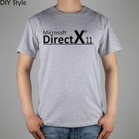 KODER DIRECTX MICROSOFT XBOX PROGRAMISTA T-shirt z bawełny z Lycrą góry Moda Marka t shirt mężczyzn
