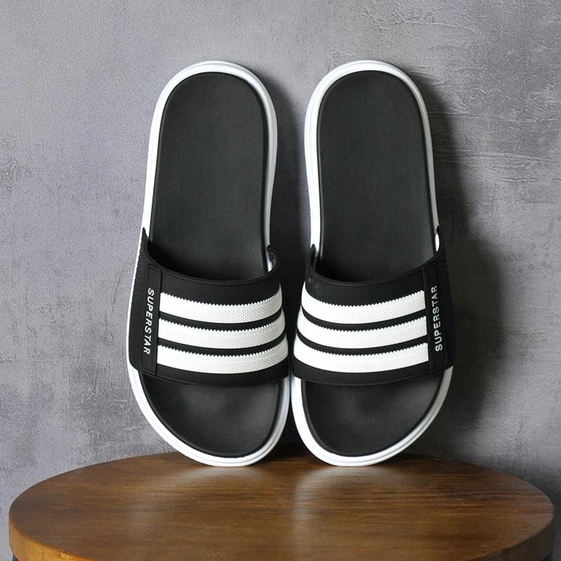 Dropshipping Slippers Men Couple Lovers Home Slippers Flip Flops Soft Comfort Flat Platform Slipper Men Shoes Male/Female Slides(China)