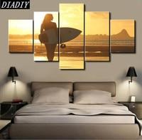 5pcs diy diamond embroidery Seaside scenery Painting Home Decoration Living Room Modern Wall Art diamond Painting cross stitch