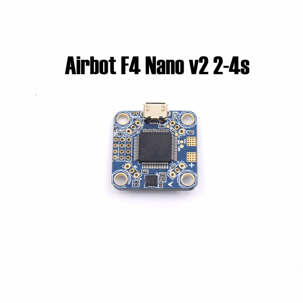 Airbot F4 Nano v2 2-4s Flight Controller Board Supports direct 2-4s LIPO input(1A BEC) For RC FPV Racing Cross Drone Quadcopter