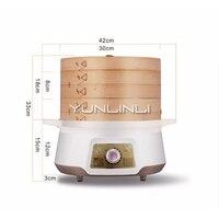 YUNLINLI Multi-função De Bambu Steamer Casa Vapor Elétrico Vapor Elétrico Vapor Elétrico de Grande Capacidade Dupla