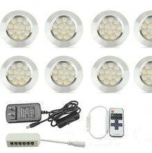 Кухонная подсветка, светодиодные лампы для шкафа, алюминиевый круглый шкаф, полка для шкафа, светильники, 3 Вт, шкаф, мебель, настольные лампы