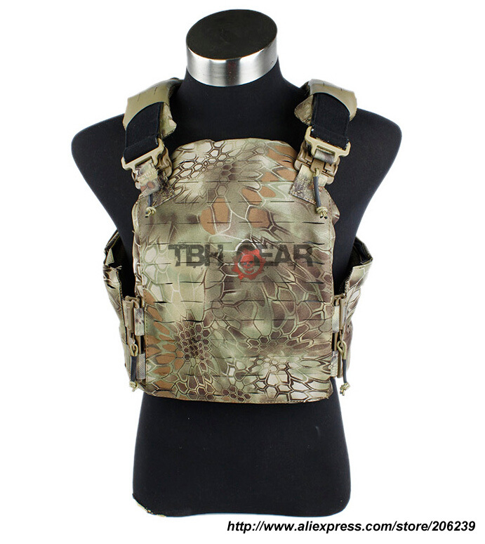 TMC Strandhogg Plate Cut Plate Carrier Kryptek Mandrake Tactical Vest+Free shipping(SKU12050213) tmc vest 94k m4 pouch plate carrier tactical military vest matte coyote brown free shipping sku12050549