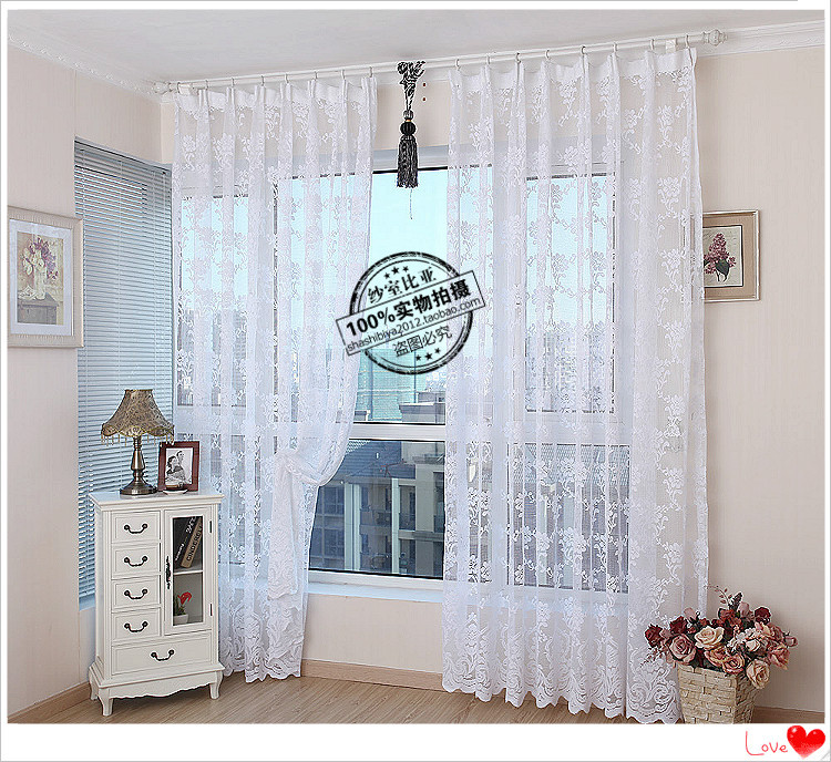 2014 White Sheer Curtain Net Curtains Lace Curtain For Living Room Windows  And Balconies Free Shipping ... Part 12