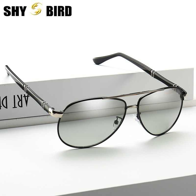 62a4df295db SHYBIRD Photochromic Sunglasses Women HD Polarized Sunglass Women Chameleon Sun  Glasses Pilot Classic Large Size Driving